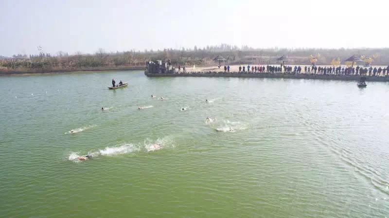 洪泽湖湿地第二届冬泳大赛